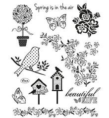 Viva Dekor und My paperworld Gennemsigtige frimærker, Nature