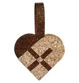 BASTELSETS / CRAFT KITS: Bastelpackung für 8 Flechtherzen, Größe 14,5x10 cm