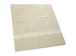 KARTEN und Zubehör / Cards 10 tarjetas dobles con la impresión del modelo de secuencias de comandos con 5 y 5 sin brillo