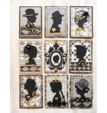 Marianne Design Creatables - Silhouette Mädchen mit Haare hoch und mit geflochtenem Haar, 2 Mädchen