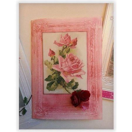 DCWV und Sugar Plum Designer Bow, Rose Garden