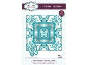Creative Expressions Stansning og prægning skabelon: sommerfugl dekorativ ramme
