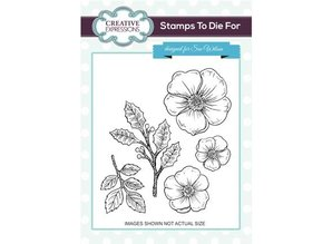 Creative Expressions Rubber stamps, Christmas Rose