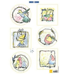 Marianne Design Bilderbogen, cute little birds