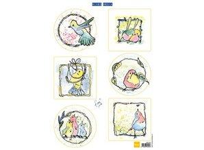Marianne Design Bilderbogen, søde små fugle