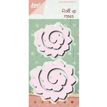 Troquelado y estampado en relieve plantilla: enrollables rosas