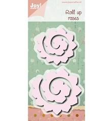 Joy!Crafts und JM Creation Stansning og prægning skabelon: Roll up roser