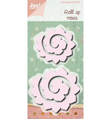 Joy!Crafts und JM Creation Troquelado y estampado en relieve plantilla: enrollables rosas