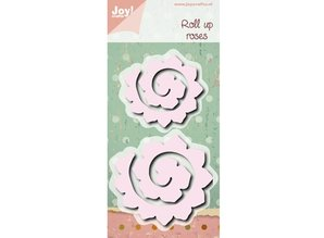 Joy!Crafts und JM Creation Punching and embossing template: Roll up roses