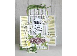 Joy!Crafts und JM Creation Stanz- und Prägeschablone: Roll up roses