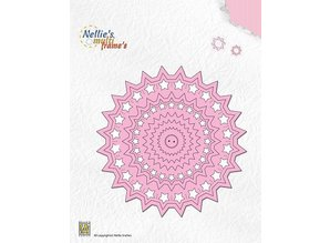 Nellie snellen Punching and embossing templates: Cirkel with stars