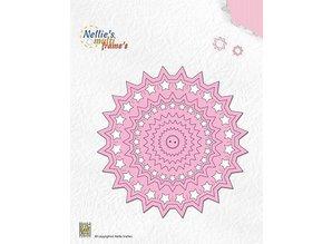 Nellie snellen Stansning og prægning skabeloner: Cirkel med stjerner