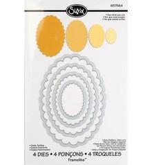 Sizzix Stampaggio e la cartella goffratura SET: 4 ovali con le onde