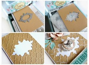 Sizzix Stamping and embossing folder SET: 4 Oval decorative frame