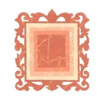 Stampaggio e la cartella goffratura SET: 3 rettangoli e 1 cornice decorativa
