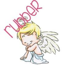 Rubber zegel: Angel love