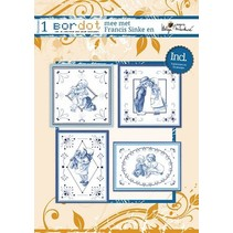 Hobby book 8 Embroidery Patterns: Delfsblue