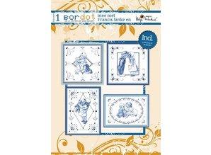 Bücher und CD / Magazines Hobby libro con 12 schemi di ricamo: Delfsblue
