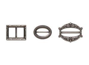 Embellishments / Verzierungen Metal Set, Antik Sølv