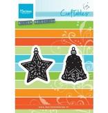Marianne Design Stanz- und Prägeschablone: Tiny's ornaments Stern und Glocke