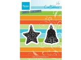 Marianne Design Punching and embossing template: Tiny's ornaments star and bell