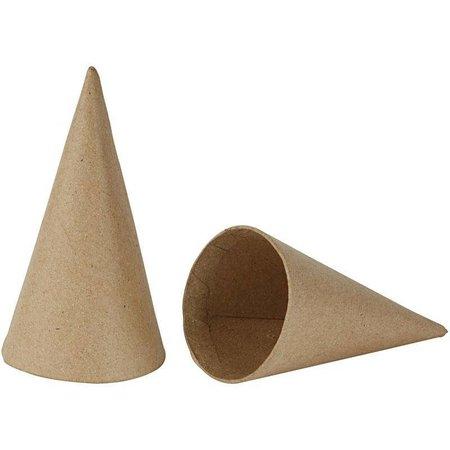 Kegel, H: 14 cm, D: 7 cm, 12 stuks