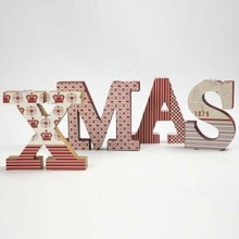 Objekten zum Dekorieren / objects for decorating Letters, XMAS with insert for candles