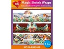 BASTELZUBEHÖR / CRAFT ACCESSORIES Magic shrink films, birds (⌀ 6 cm)