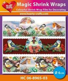 BASTELZUBEHÖR / CRAFT ACCESSORIES Magic shrink films, birds (⌀ 6 cm)