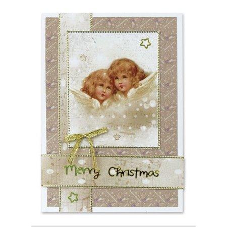 BASTELSETS / CRAFT KITS: Fancy Bordered Print Fancy Christmas II