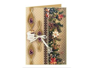 DESIGNER BLÖCKE  / DESIGNER PAPER Card stock Christmas Garlands