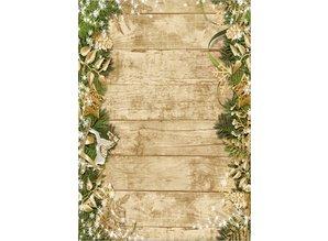 DESIGNER BLÖCKE  / DESIGNER PAPER La cartulina de Navidad, de madera con figuras de Navidad