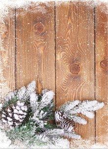 DESIGNER BLÖCKE  / DESIGNER PAPER Karton jul, træplader med filialer