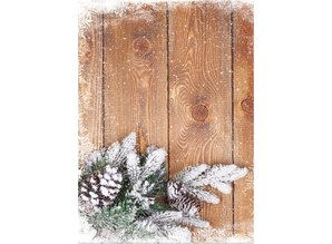 DESIGNER BLÖCKE  / DESIGNER PAPER Kartenkarton Weihnachten, Holzbretter mit Zweigen