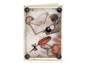 Embellishments / Verzierungen Die cut ark med tilbehør fra karton, A4