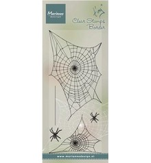 Marianne Design Transparent stempel: Spinnewebe