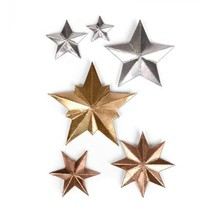 Punching and embossing template: 3 Dimensional STARS