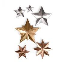 Stansning og prægning skabelon: 3 Dimensional STARS