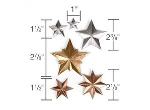 Sizzix Punching and embossing template: 3 Dimensional STARS