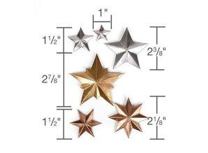 Sizzix Stansning og prægning skabelon: 3 Dimensional STARS