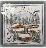 Marianne Design Troquelado y estampado en relieve plantilla: pueblo austríaco