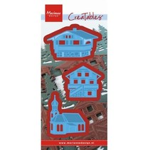 Punching and embossing template: Austrian village