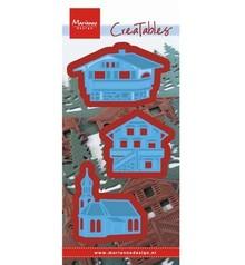 Marianne Design Stansning og prægning skabelon: østrigske landsby