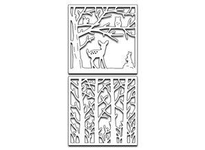 Marianne Design Stansning og prægning skabelon: 3D Forest Scene