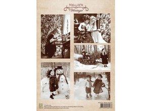 BILDER / PICTURES: Studio Light, Staf Wesenbeek, Willem Haenraets foglio A4 Natale divertimento invernale epoca