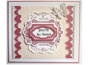 Creative Expressions Punching and embossing template: Romantic border