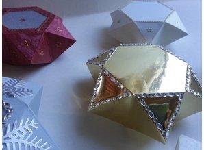 Dekoration Schachtel Gestalten / Boxe ... Skabelon, Sternenbox, 14,5x12,5cm, 3teilig