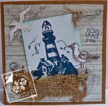 Joy!Crafts und JM Creation Timbro trasparente su e in mare