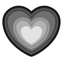 Stansning og prægning skabelon: Basic Heart