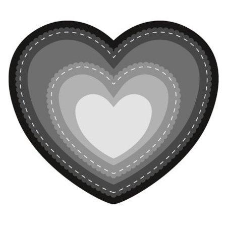 Marianne Design Stanz- und Prägeschablone: Herz Basic